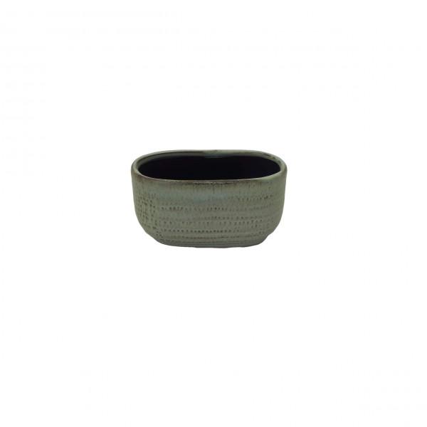 Ceramic Planter Alezio Oval Rustique Pistache L13.5W7H7