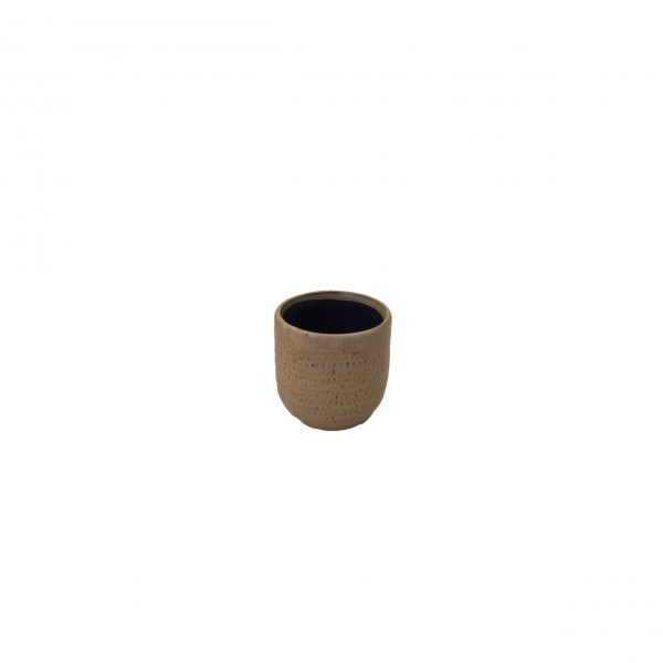 Ceramic Pot Alezio Round Rustique Ochre D7H7