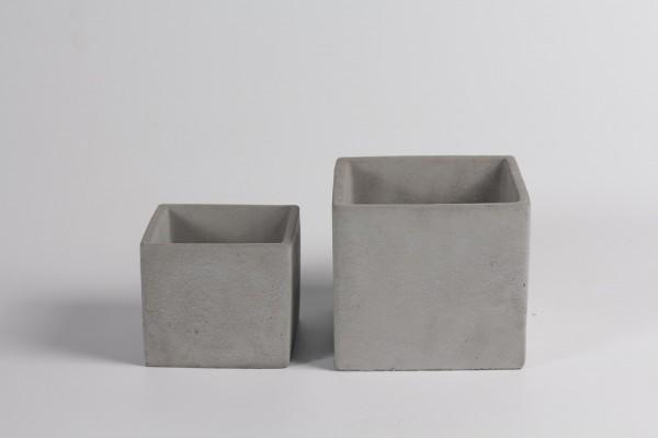 Cement Planter Rovigo Square Grey L13,5W13,5H12 S2