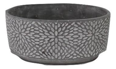 Zement Pflanzer Termoli Oval Grau L20,5W13H9,5