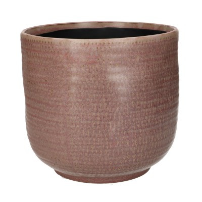 Ceramic Vase Alezio Round Rustique Pink D18H17