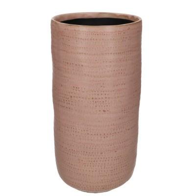 Ceramic Vase Alezio Round Rustique Pink D14H29