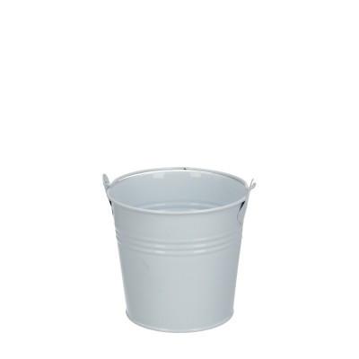 Zinc bucket d10*09cm white