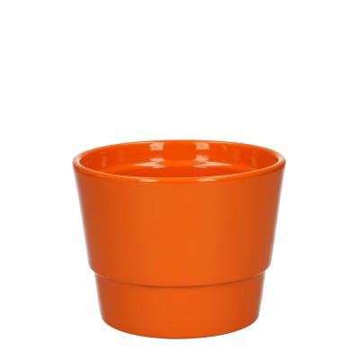 Keramiek pot kim d11.5*9cm orange