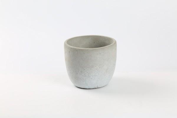 Zement Topf Rovigo Rund Grau D10,5H8,5