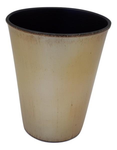 Melamine Pot Rond Mat Champagne Wash/Bruin Wash D13H16