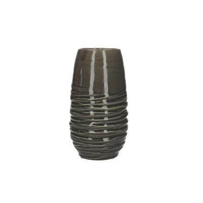 Ceramic Vase Breno Round Black/White D11.5H28