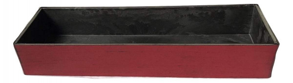 Melamine Tray Rectangle Matt Rot W/Black L32W10H5