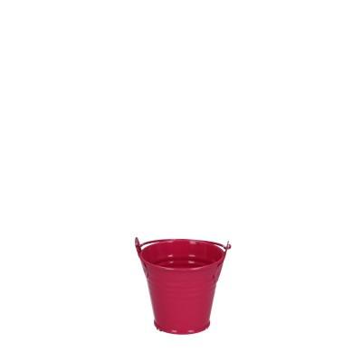 Zinc bucket d06*05cm fuchsia