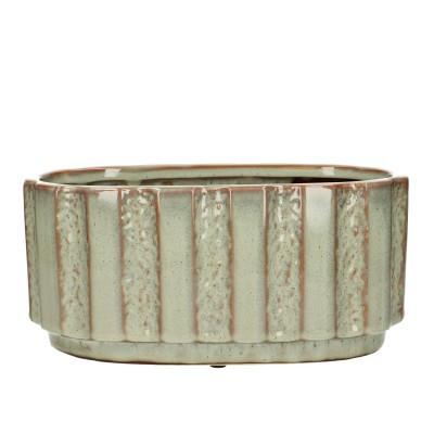 Ceramic.Planter Mirto Ov.L25H12cm.L.Green