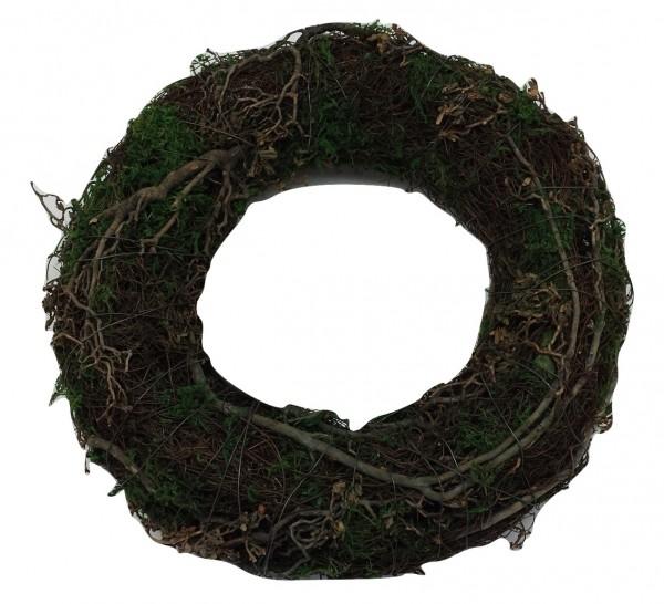 Salim Wreath With Moss,Tree Branch Round Na/Grn D25H7 Piece