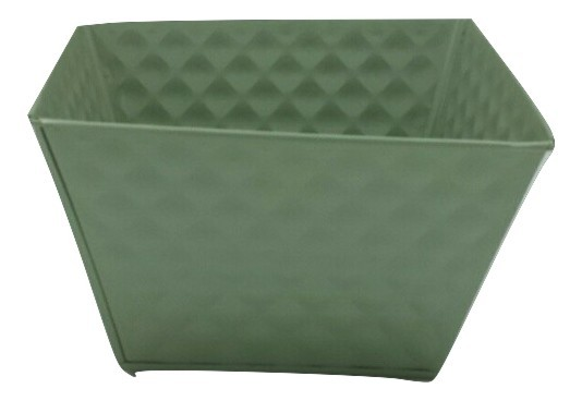 Zinc Planter Square Green D22H22