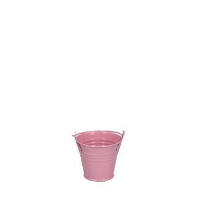 Zink Eimer d06*05cm rosa