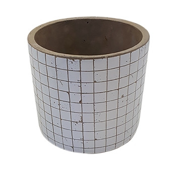 Cement Pot Lerici Round White D16,5H15,5