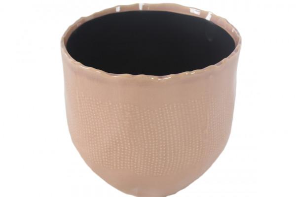 Ceramic Pot Amalfi Round Pink D19H18
