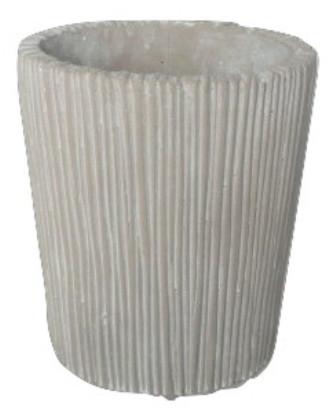 Vase Lozio Oval Hellgrau Antik L15W10H19