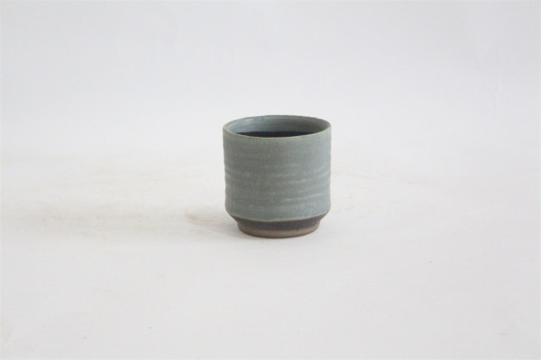 CERAMIC POT.ZOGNO ROUND MATT BLUE.D7H7