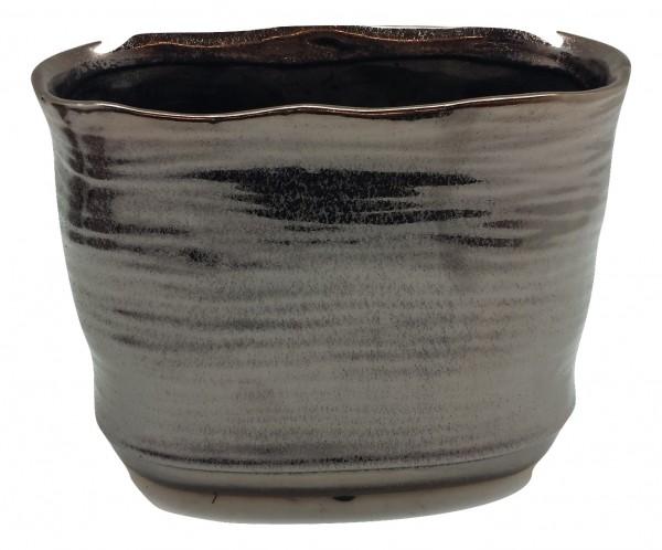 Ceramic Planter Rotondi Oval Bronze L22W12H18,5