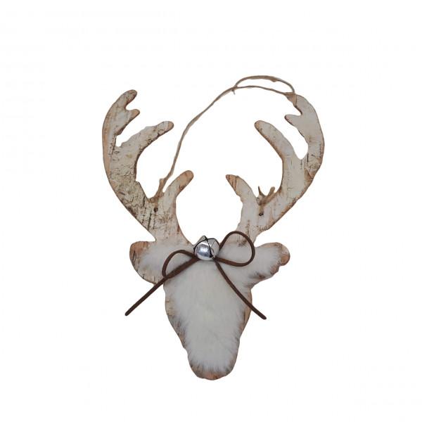 Wooden Deco Hanger Deer L23H30