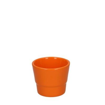 Keramiek pot kim d07*06cm orange
