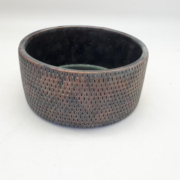 Cement Planter Sapri Round Antique Copper D13,5H7