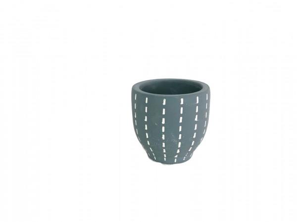 Cement Pot Perloz Round Grey D7,5H7,5