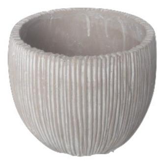 Pot Lozio Round Light Grey Wash D23H19