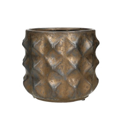 Ceramic.Pot Rocca D18.5*16cm.Bronze