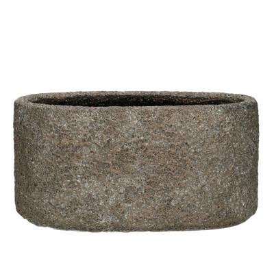 Ceramic Planter Ispra Ov.15.5/14*12.5cm.D.Grey