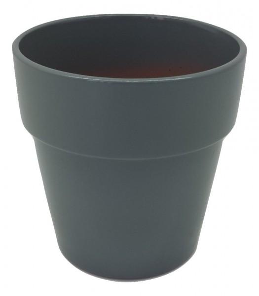 Pot Pavia Round Dark.Grey D13H13