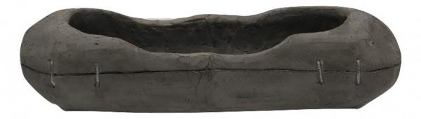 Zement Pflanzer Padola Oval Grau L40W12,5H12