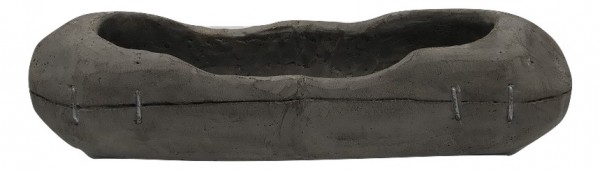 Cement Planter Padola Oval Grey L40W12,5H12