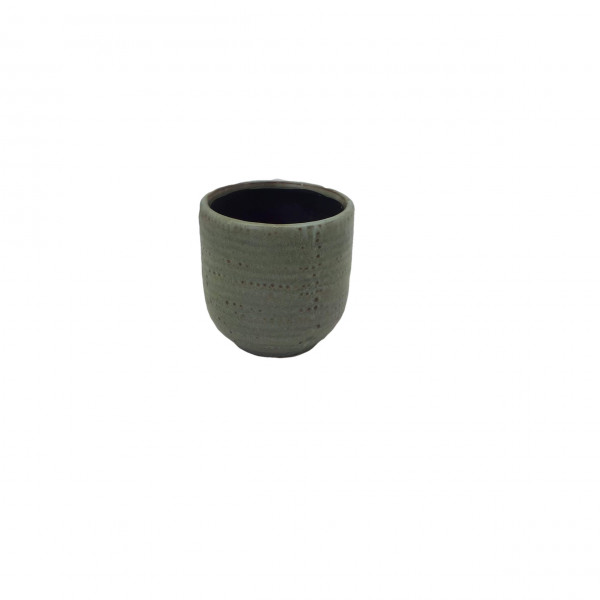 Ceramic Pot Alezio Round Rustique Pistache D7H7