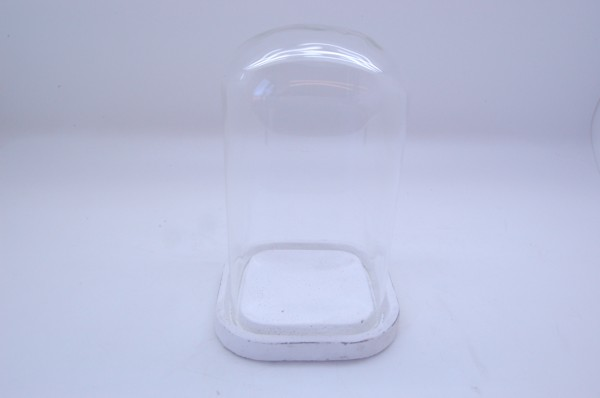 Cement Tray With Glass Lid Marzio Antique D14,5H26