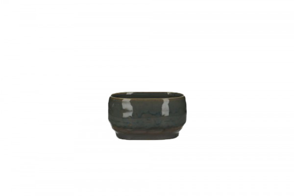 Ceramic Planter Dolo Oval Blue/Brown L14.5W9H8