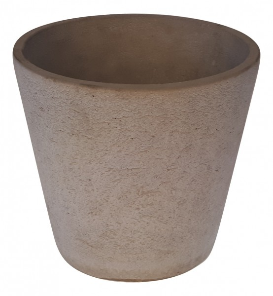 Cement Pot Round Rovigo Grey D19H18
