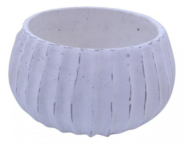 Zement Pflanzer Doues Rund Weiss D30H16