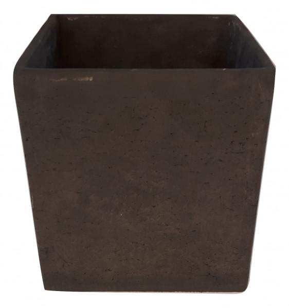 Zement Topf Rovigo Viereck Schwarz D20H20