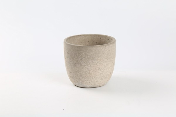 Cement Pot Rovigo Rond Rose D13,5H12