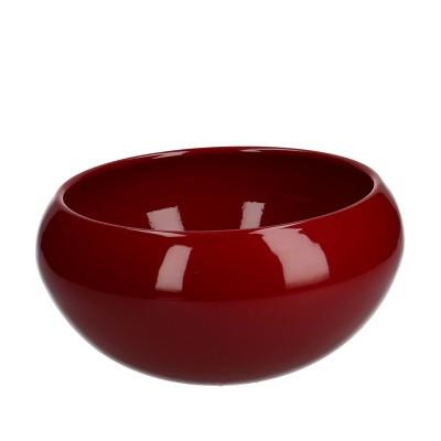 Keramiek Schaal Ellen d17.5*11cm rood