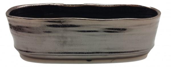 Ceramic Planter Rotondi Oval Bronze L30W9,5H9