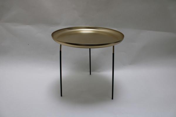 Matal Golden Plate W/Legs Round D33.5H31