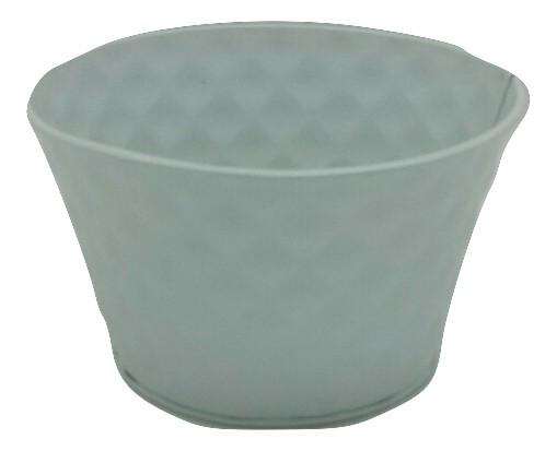Zinc Planter Round White D15H9