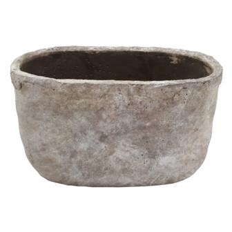 Cement Pot Montieri Oval Wash Grey L39W15H14,5