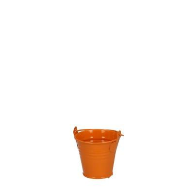 Zinc bucket d06*05cm orange