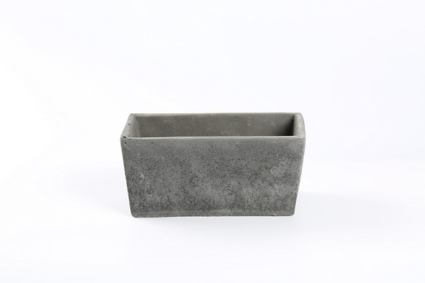 Cement Planter Rovigo Rechthoek Zwart L19,5W10H9