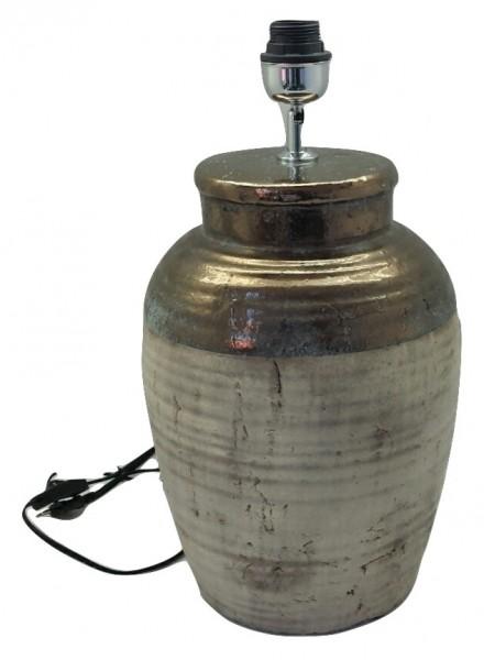 Keramik Lampe Sardara Bronze/Creme L34W34H61