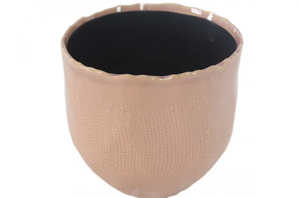 Ceramic Pot Amalfi Round Pink D7H8