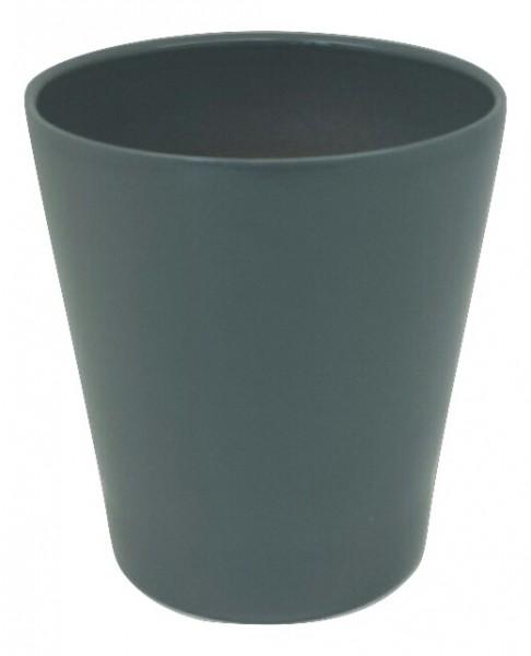 Pot Popoli Round Dark Grey D13H14