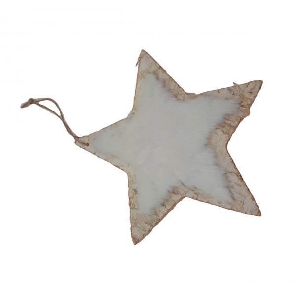 Wooden Deco Hanger Star L21H21